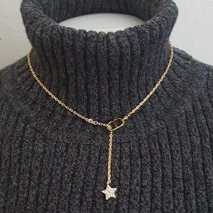 Christian Dior CD Star Gold Crsytal Necklace